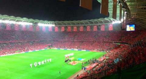 Турция - Украина в на стадиона в городе Конья
